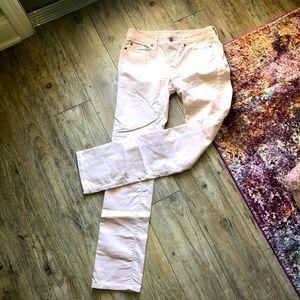 Loft Light Pink Modern Straight Cords Pants